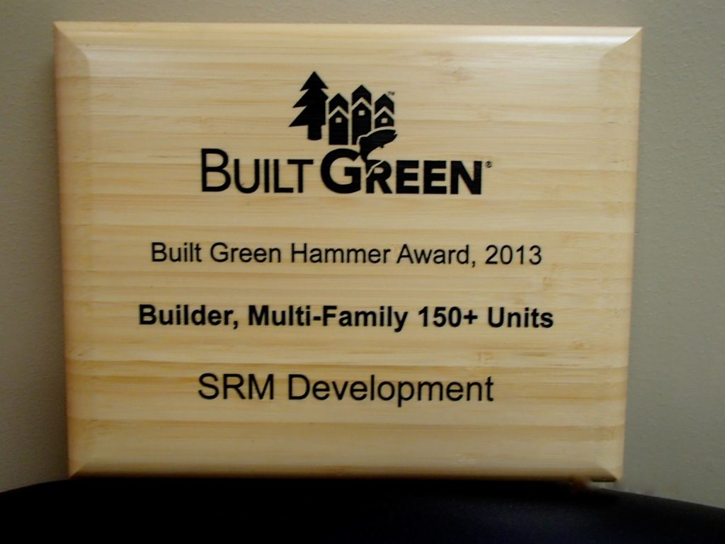 2013 Built Green Hammer Award